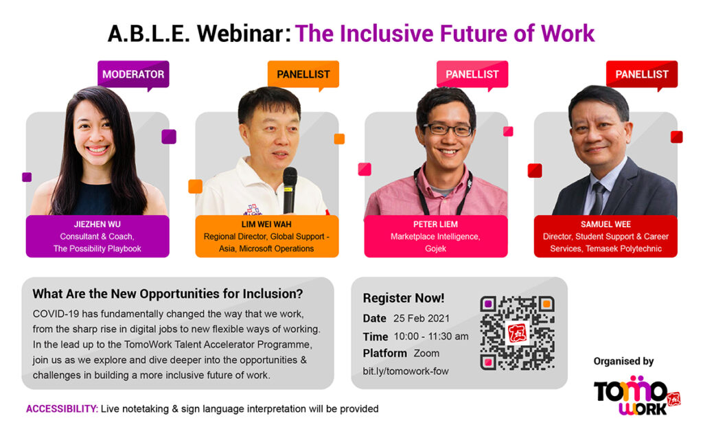 EDM for TomoWork Future of Work webinar on 25 February, from 10 am to 11:30 am over Zoom.