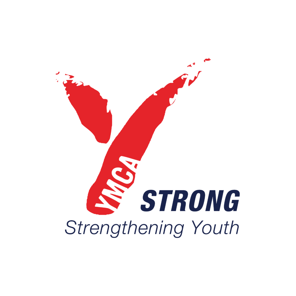 YMCA logo with tagline strong, strengthening youth