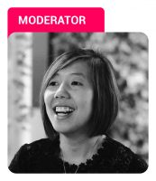 Photo of Cindy Chng with Moderator label in pink