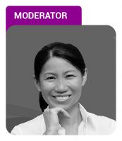 Photo of Yvonne Huang with Moderator label in purple