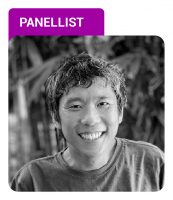 Photo of Aaron Wong with Panellist label in purple