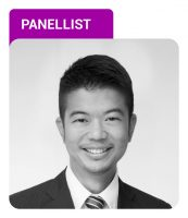 Photo of Adrian Yap with Panellist label in purple